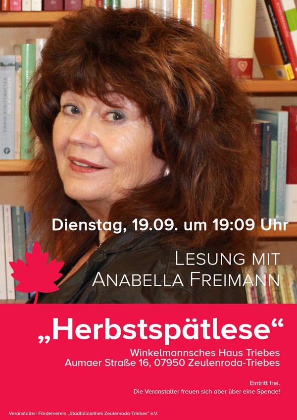 Herbstspätlese mit Anabella Freimann