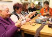 Socken stricken im Winkelmannhaus