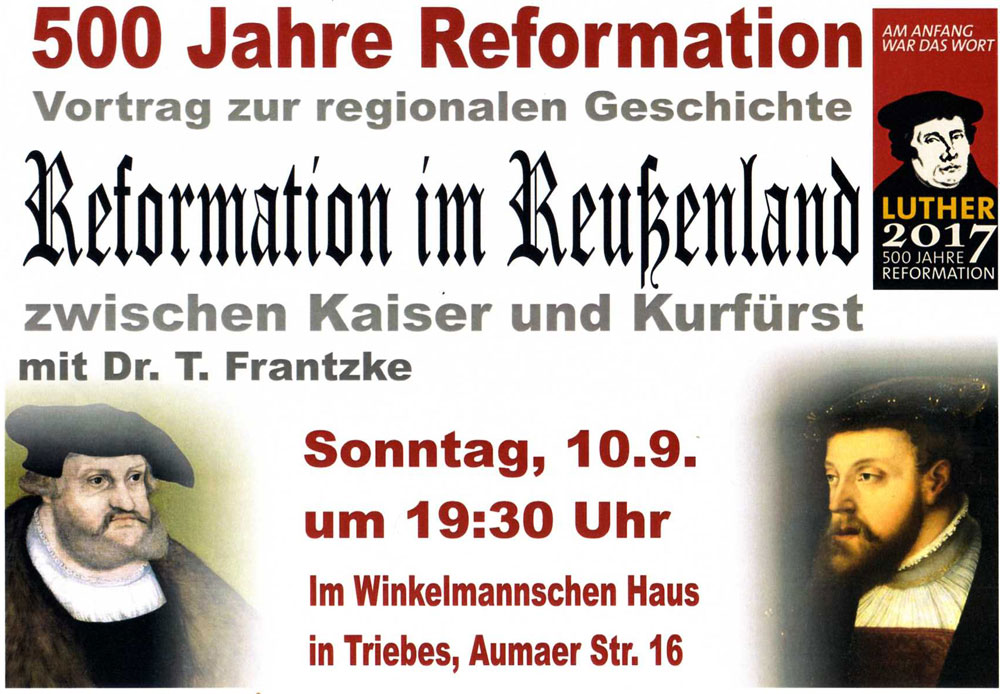 Vortrag zur Reformation im Reußenland